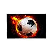 Hot Soccer Ball 3'x5' Area Rug