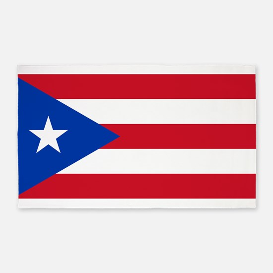 Flag Of Puerto Rico 3'x5' Area Rug