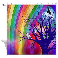 Rainbow Moon Shower Curtain