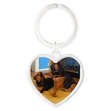 Lenny & Lila Heart Keychain