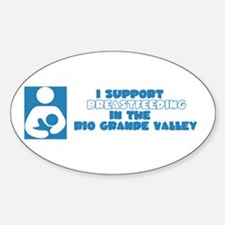 Support Breastfeeding in RGV Oval Decal
