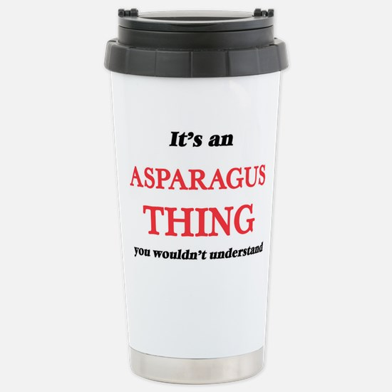 It's an Asparagus t Stainless Steel Travel Mug