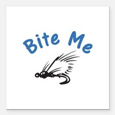 "Bite Me Square Car Magnet 3"" x 3"""