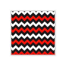 Black Red And White Chevron Sticker