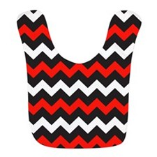 Black Red And White Chevron Bib