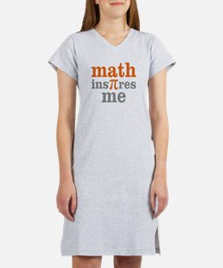 Math Inspires Me Women's Nightshirt