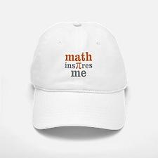 Math Inspires Me Baseball Baseball Cap