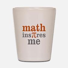 Math Inspires Me Shot Glass