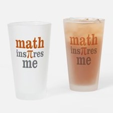 Math Inspires Me Drinking Glass