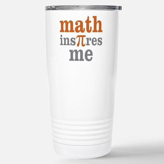 Math Inspires Me Stainless Steel Travel Mug