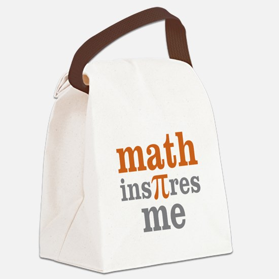 Math Inspires Me Canvas Lunch Bag