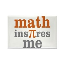 Math Inspires Me Rectangle Magnet (100 pack)