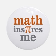 Math Inspires Me Ornament (Round)