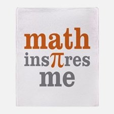 Math Inspires Me Throw Blanket
