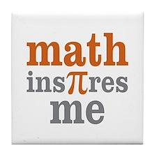 Math Inspires Me Tile Coaster