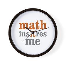 Math Inspires Me Wall Clock