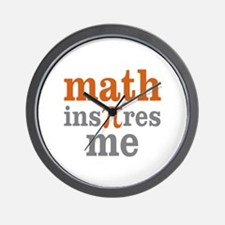Math Inspires Me Wall Clock