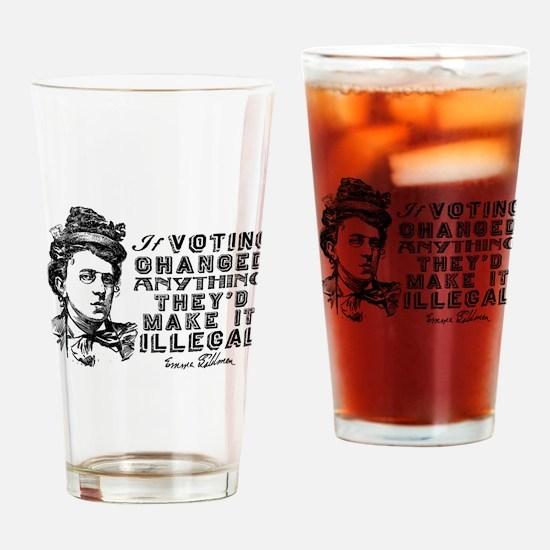 Emma Goldman On Voting Drinking Glass
