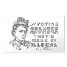 Emma Goldman On Voting Decal