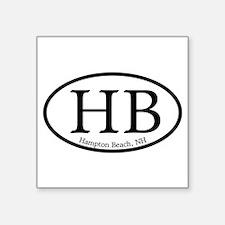 """Cool New hampshire car Square Sticker 3"""" x 3"""""""