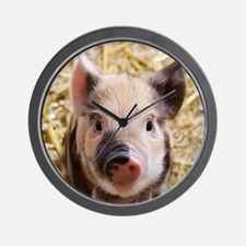 Cute Red pig Wall Clock