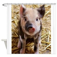 Funny Pig Shower Curtain