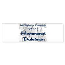 Dulcimer Shadow Bumper Bumper Sticker