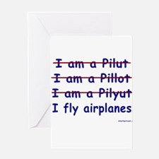 Cute Pilot Greeting Card