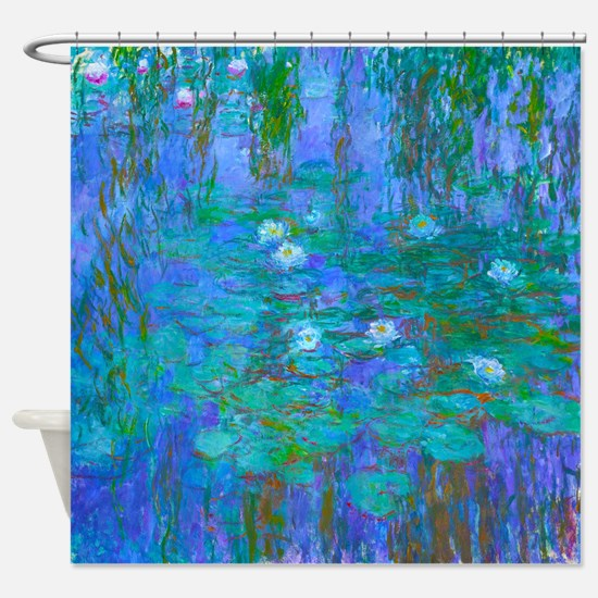 Monet Blue Water Lillies Shower Curtain