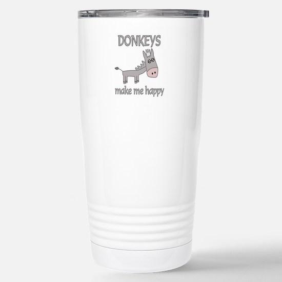 Donkey Happy Stainless Steel Travel Mug