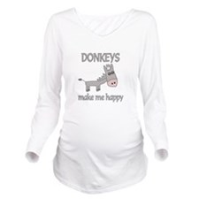 Donkey Happy Long Sleeve Maternity T-Shirt