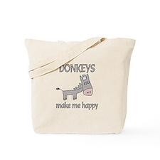 Donkey Happy Tote Bag