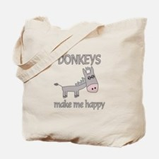 Donkey Happy Tote Bag