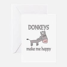 Donkey Happy Greeting Cards (Pk of 10)
