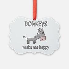 Donkey Happy Ornament
