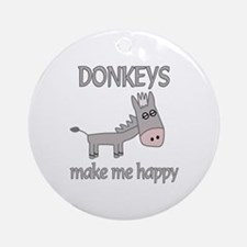 Donkey Happy Ornament (Round)