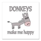 Donkey Square Car Magnets