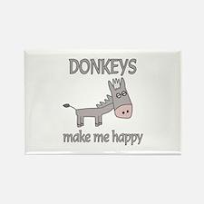 Donkey Happy Rectangle Magnet