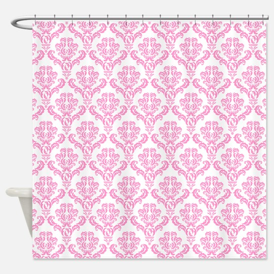Cute Pink frilly Shower Curtain