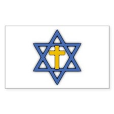 Star Of David With Cross Stickers