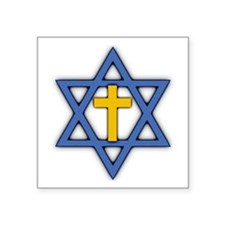 Star Of David With Cross Sticker