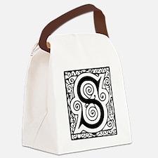 Medieval Letter S Canvas Lunch Bag