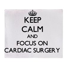 Cute Heart surgery Throw Blanket