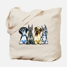 4 Great Danes Tote Bag