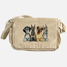 4 Great Danes Messenger Bag