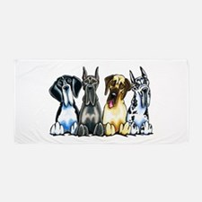 4 Great Danes Beach Towel