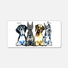 4 Great Danes Aluminum License Plate