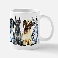 4 Great Danes Mugs