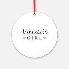 Minnesota Girl Ornament (Round)
