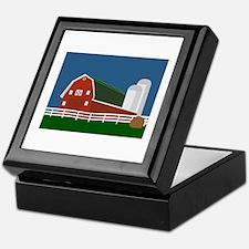 Big Red Barn Keepsake Box